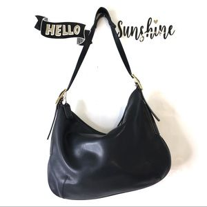 Black COACH Leather Hobo Shoulder Bag Style 9213